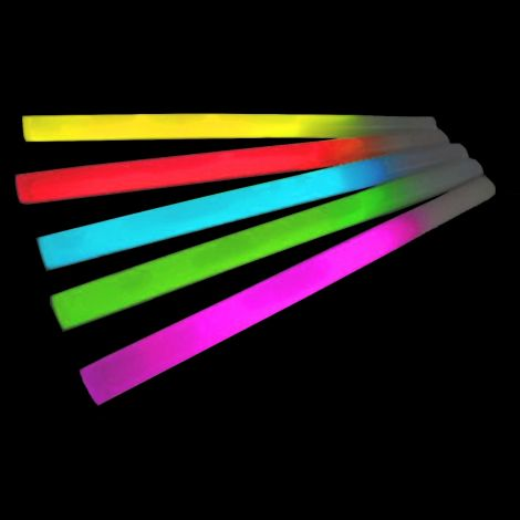 Jumbo Glow Sticks Single Colour x 25