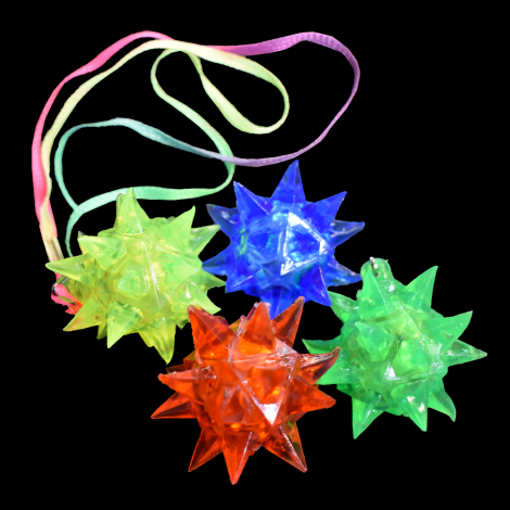 Flashing Soft Crystal Star On Necklace