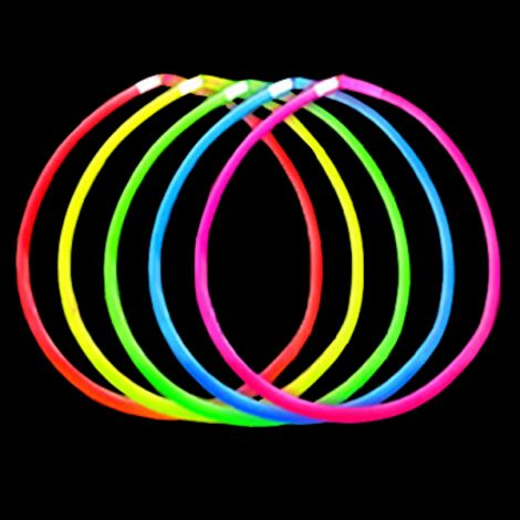 "22"" Assorted Colour Glow Stick Necklaces"