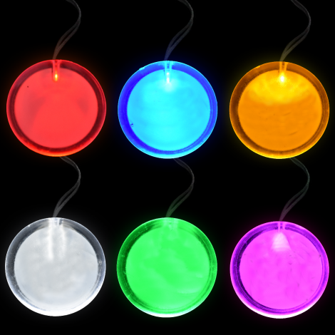 Flashing Circle Pendants