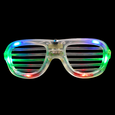 LED Clear RGB Shutter Shades