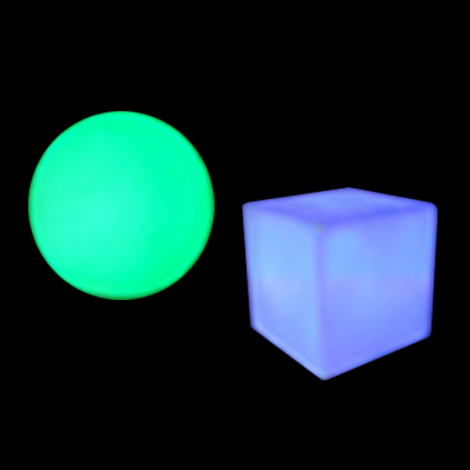 Decor Orb and Cube
