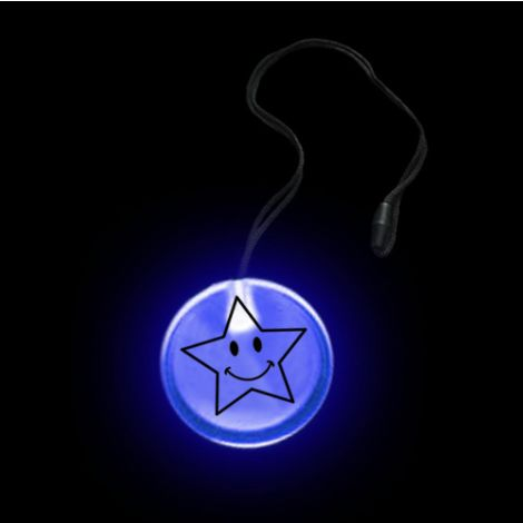 Flashing Circular Pendant Necklace - HAPPY STAR
