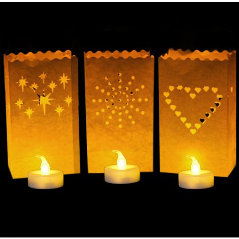 Luminary Bags with LED Tea Lights