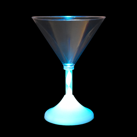Light Up LED Martini Glass