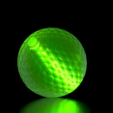 "1 x Glow Flyer Nite Golf Ball with 1.5"" insert"