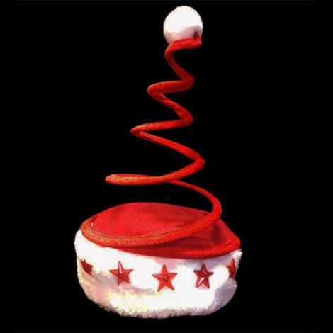 Flashing Santa Coil Hat - OUT OF STOCK