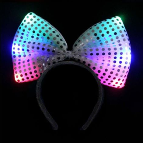 Flashing Sequin Bow Head Bopper