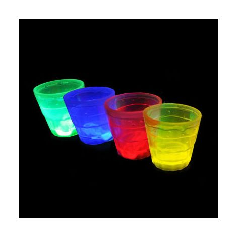 Glow In The Dark Shot Glasses x 1 -Red
