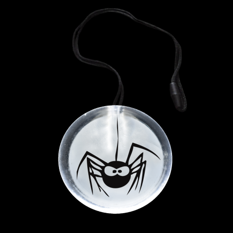 Light Up Flashing Scary Face Circle Pendant Necklace