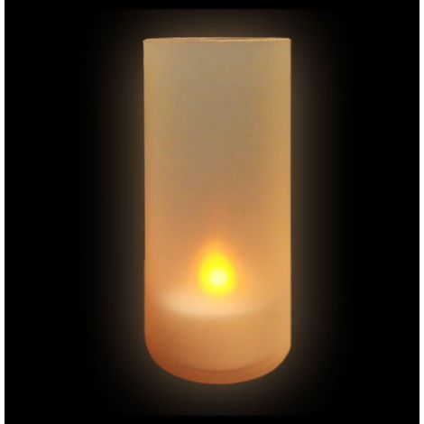 LED Tea Light Candle In a Frosted Cup