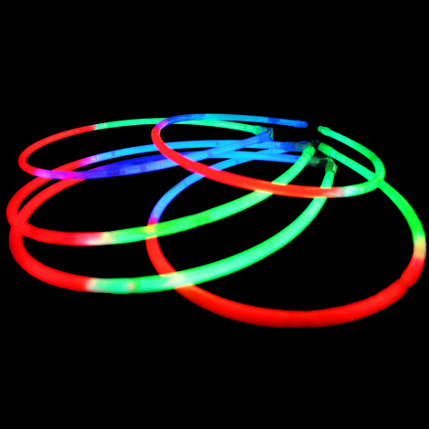 "22"" Glow Necklace x 50 TRICOLOUR"