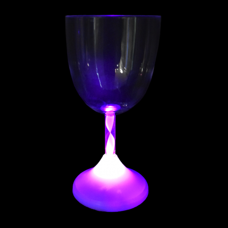 LED Wine Glass Purple