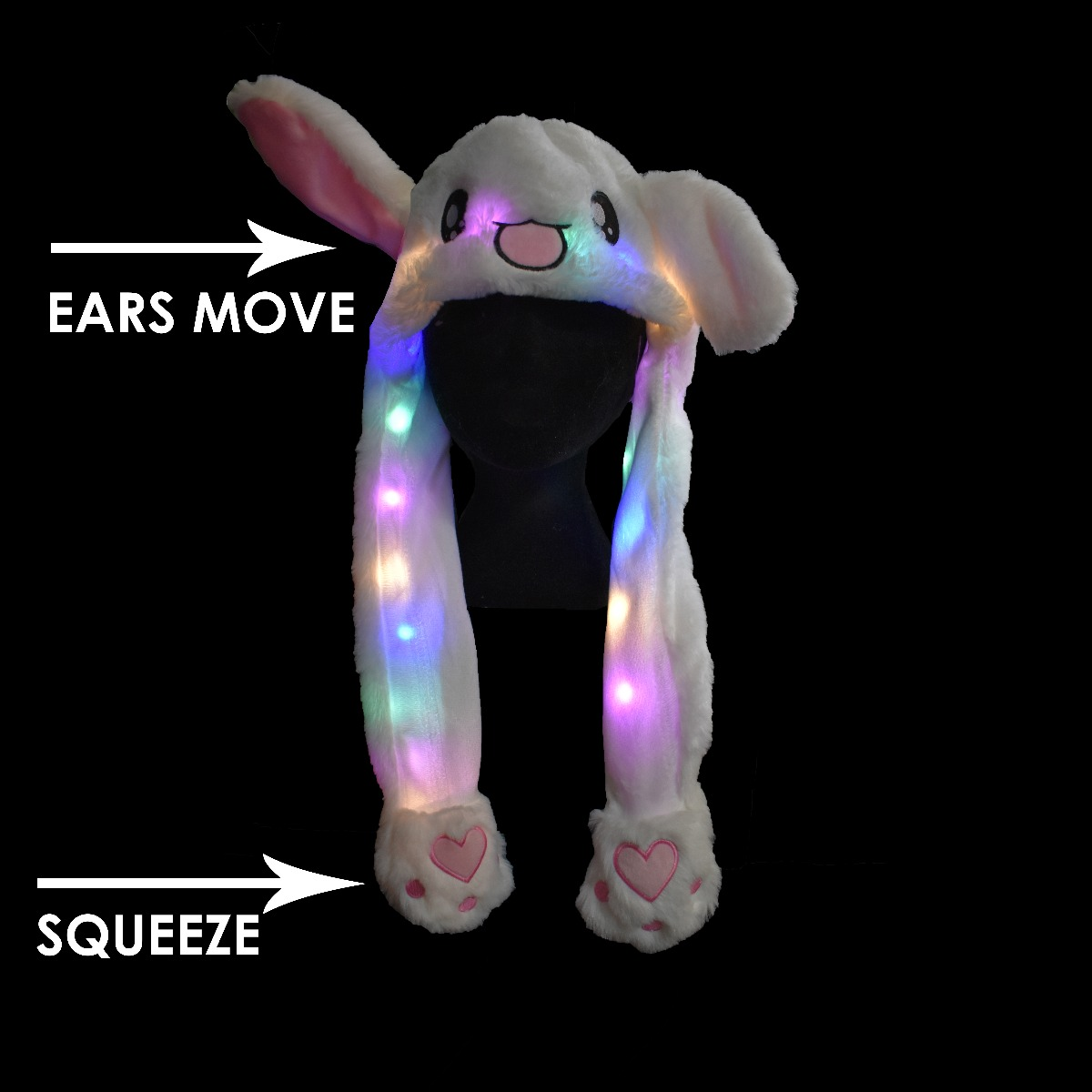 Light up moving rabbit ears